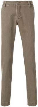 Entre Amis straight-leg roll up trousers