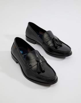 Ben Sherman Loco Tassel Loafers In Black Leather