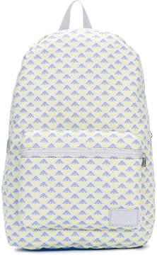 Emporio Armani Kids logo pattern backpack