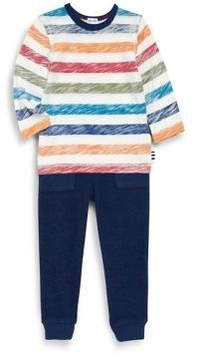 Splendid Little Boy's Two-Piece Patterned Top & Knitted Bottom Set