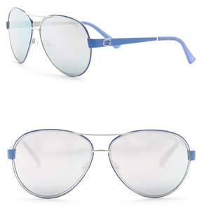 GUESS 60mm Aviator Sunglasses