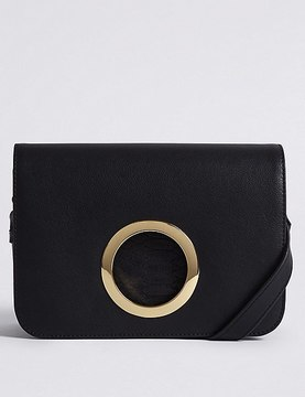 Faux Leather Ring Across Body Bag