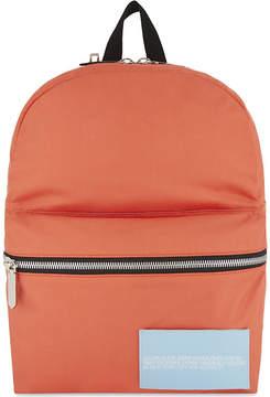 Calvin Klein Mens Black Embroidered Logo Backpack