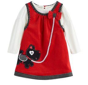 Nannette Baby Girl Scottie Dog Jumper & Bodysuit Set
