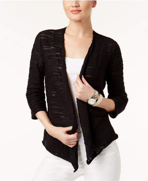 Alfani Draped Asymmetrical Cardigan, Created for Macy's