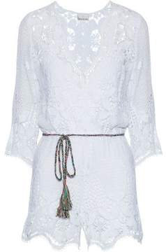 Miguelina Cotton Guipure Lace Playsuit