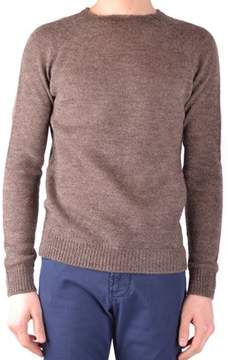 Hosio Men's Brown Wool Sweater.