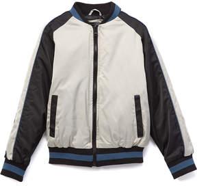 Urban Republic Black & White Embroidered Eagle Bomber Jacket - Boys