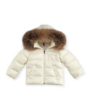 Moncler K2 Hooded Fur-Trim Puffer Coat, Size 12M-3