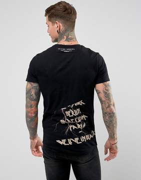 Religion T-Shirt With Anarchy Splicing Print