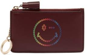 Anya Hindmarch Rainbow Leather Purse - Womens - Burgundy Multi