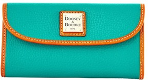 Dooney & Bourke Pebble Grain Continental Clutch Wallet - SPEARMINT - STYLE