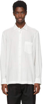 Issey Miyake White Button Up Pocket Shirt