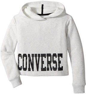 Converse Collegiate Cropped Pullover Girl's Long Sleeve Pullover