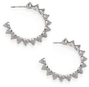Eddie Borgo Pave Crystal Cone Hoop Earrings/1.25