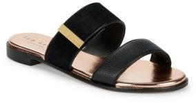 Ted Baker Ijoe Leather Slip-On Sandals