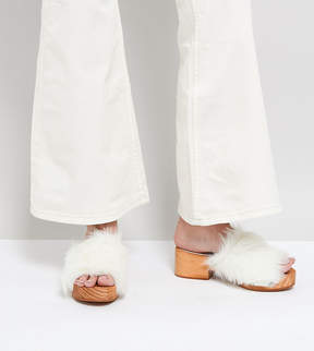 Free People Faux Fur Clogs