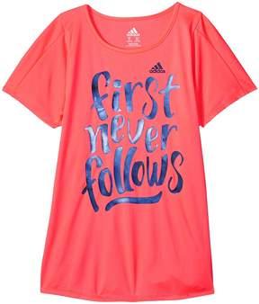 adidas Kids First Never Follows Tee Girl's T Shirt