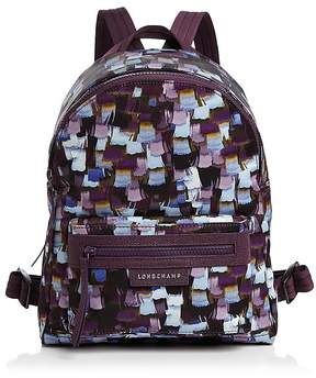 Longchamp Le Pliage Neo Printed Small Backpack - DEEP PURPLE/SILVER - STYLE