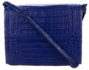 Nancy Gonzalez Crocodile Flap Messenger Bag