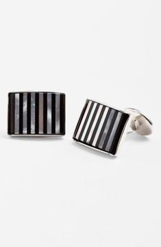 David Donahue Men's Striped Cuff Links