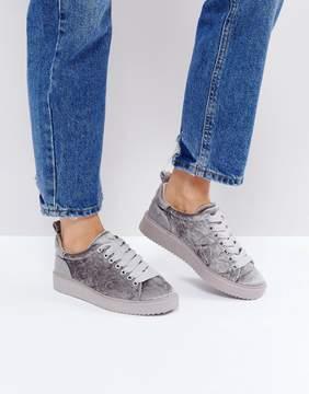 Dune London Etch Velvet Sneakers