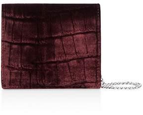 AllSaints Keel Embossed Velvet & Leather Wallet