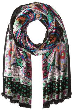 Echo Paisley Double-Faced Silk Wrap Scarves