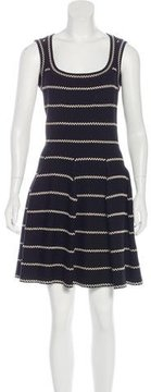 Alaia Striped Fit and Flare Dress