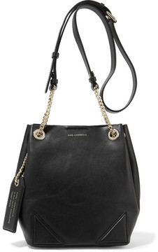 Karl Lagerfeld - K/slouchy Small Leather Shoulder Bag - Black