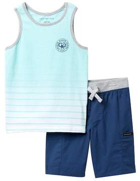 Calvin Klein Graphic Tank Top & Pull-On Shorts Set (Little Boys)