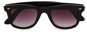 Topman Men's 48Mm Round Sunglasses - Black