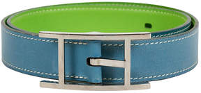 One Kings Lane Vintage HermAs Blue & Green Reversible Belt