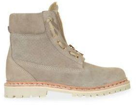 Balmain Suede Zip Boots