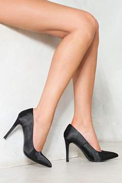 Nasty Gal nastygal Straight Up Satin Heel