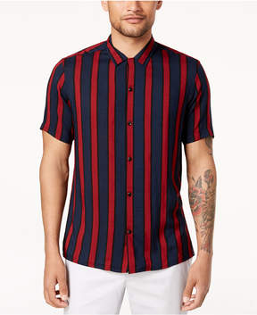 INC International Concepts I.n.c. Men's Camp Collar Striped Shirt, Created for Macy's