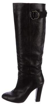 Jerome C. Rousseau Leather Knee-High Boots