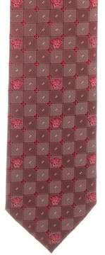 Gianni Versace Medusa Print Silk Tie