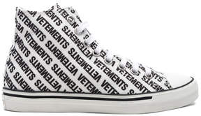 Vetements Printed Canvas High Top Sneakers