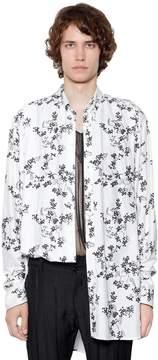 Ann Demeulemeester Oversized Printed Viscose Shirt