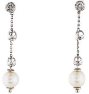 Di Modolo 18K Pearl & Diamond Drop Earrings