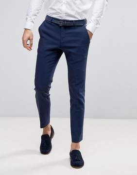 Asos WEDDING Skinny Suit Pant In Navy
