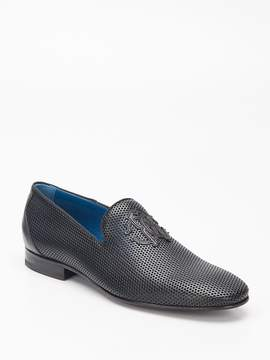 Roberto Cavalli Men's Perforated Leather Loafer