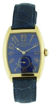 Franck Muller Casablanca 7502 S6 18K Yellow Gold & Leather 28mm x 38mm Watch