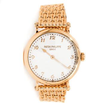 Patek Philippe Calatrava Ladies 18K Rose Gold Watch