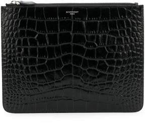 Givenchy crocodile embossed pouch