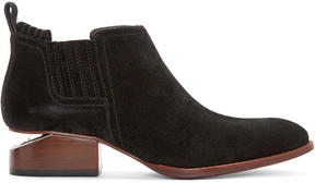 Alexander Wang Black Suede Kori Ankle Boots