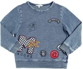 Little Marc Jacobs Vintage Effect Cotton Fleece Sweatshirt