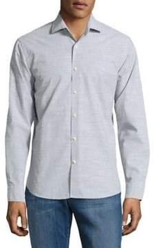 Black & Brown Black Brown Cotton Button-Down Shirt
