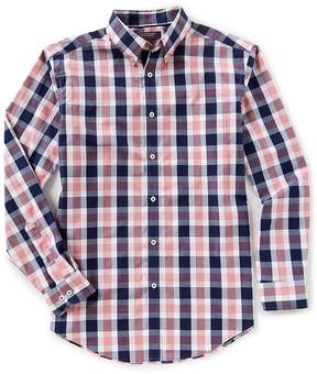 Roundtree & Yorke Trademark Long-Sleeve Buffalo Plaid Sportshirt